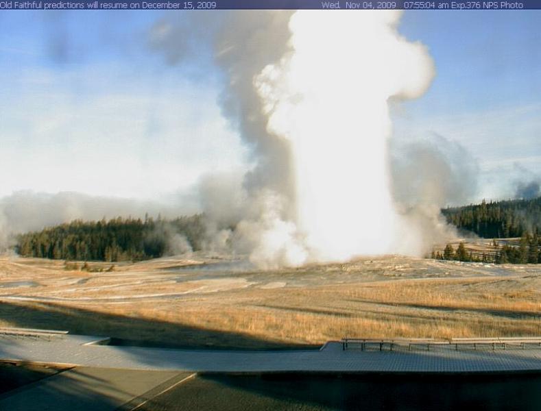 Old Faithful Webcam Yellowstone National Park