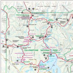 Yellowstone tourist map