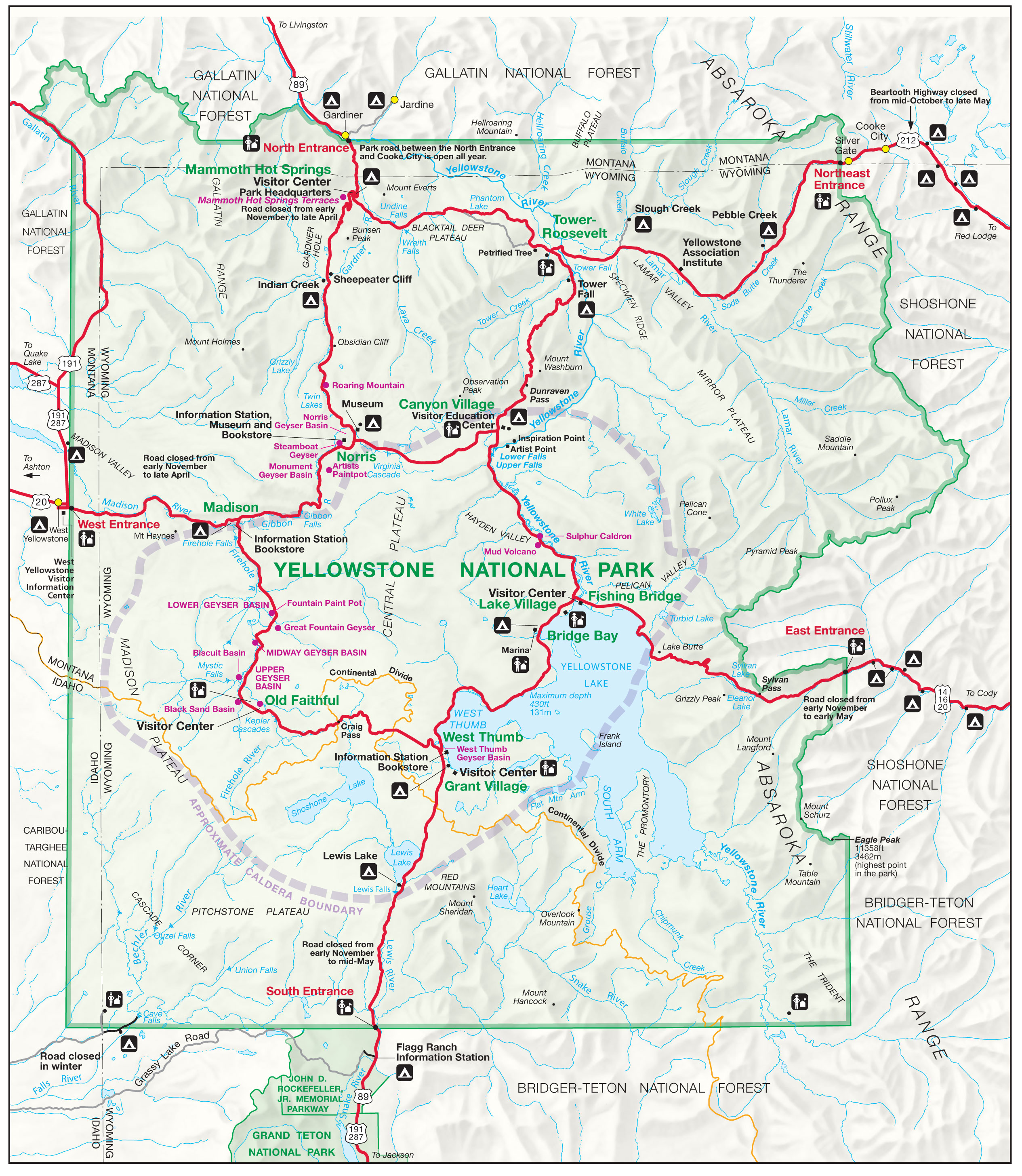 Yellowstone Park Map